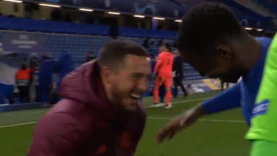 VIDEO/ Eden Hazard lë nam pas eliminimit, e qeshura e tij bëhet virale