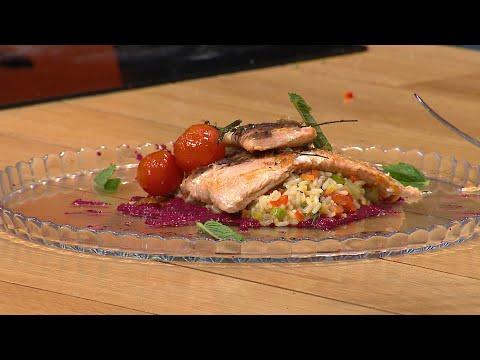 Fileto salmoni me rizoto veggies, recetë nga shefi i kuzhinës Ermal Rrapanj
