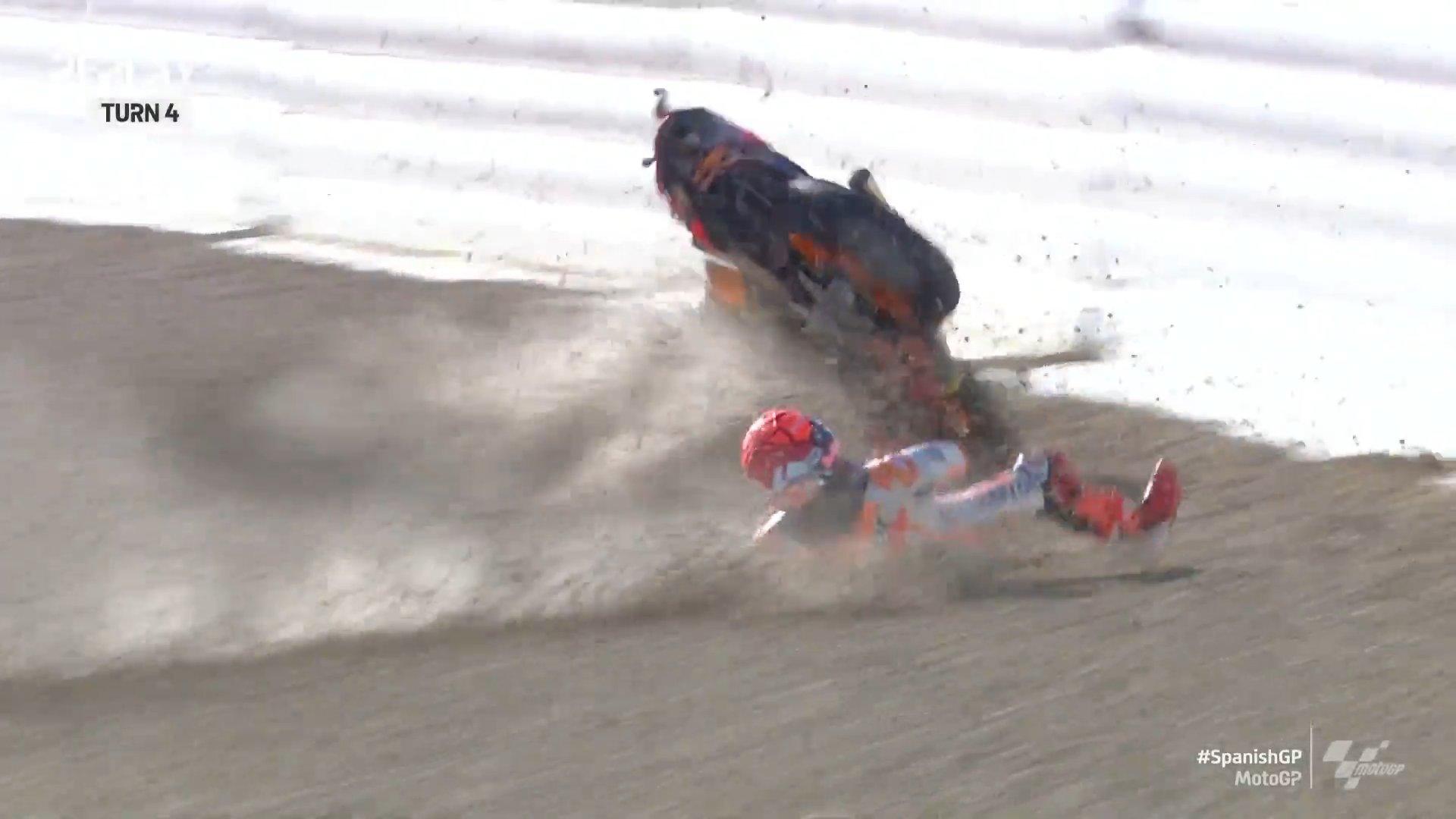 VIDEO/ Këtë herë me 156 km/orë, Marc Marquez aksidentohet sërish