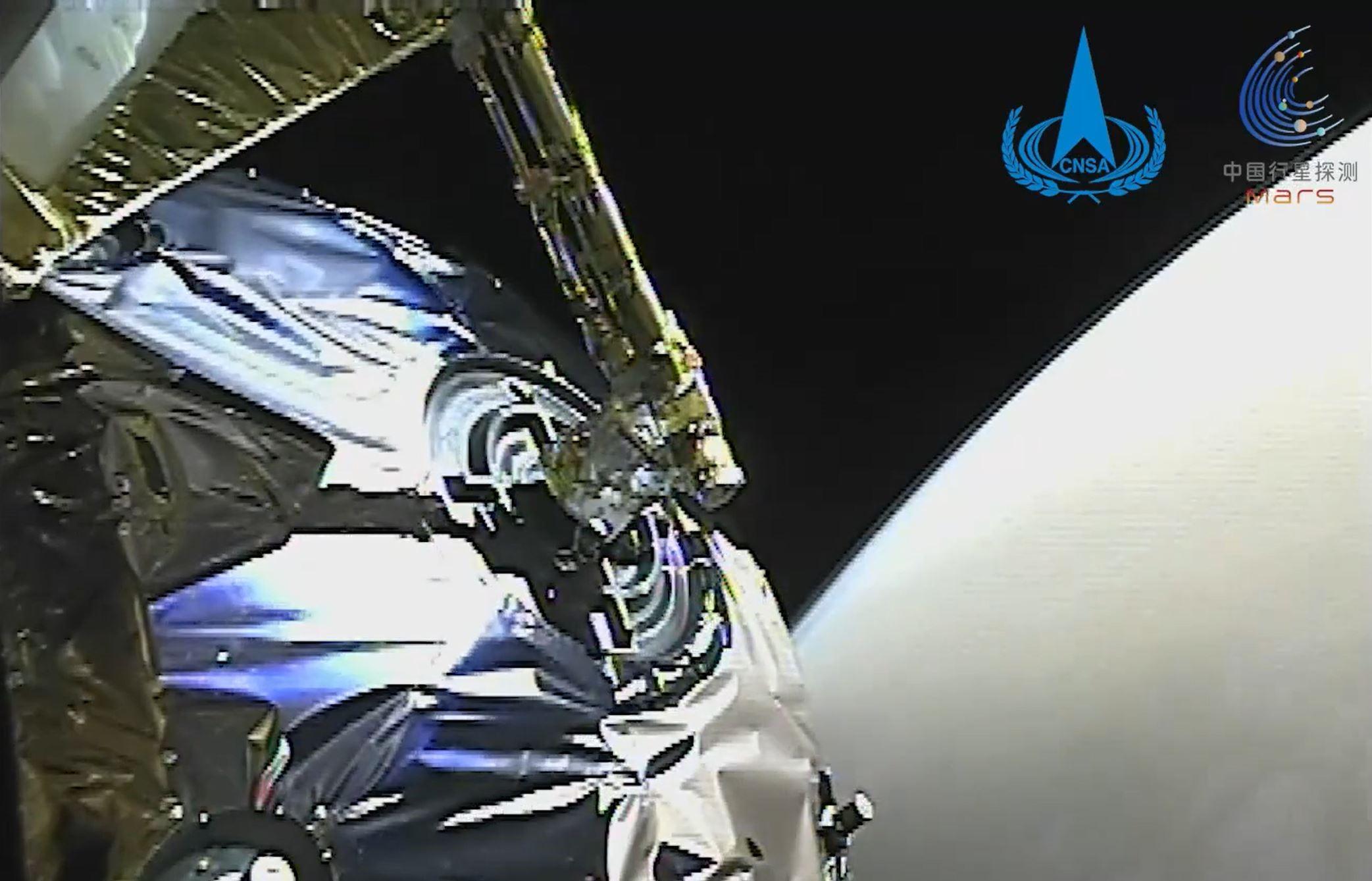 Imazhe nga Planeti i Kuq, Kina publikon regjistrimet e roverit të parë