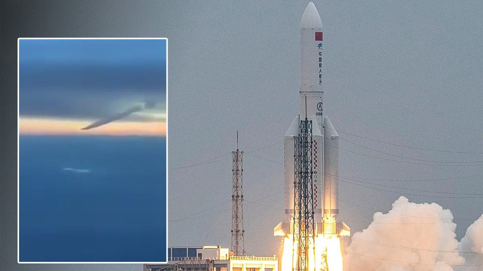Momenti i rënies së raketës kineze në Oqeanin Indian