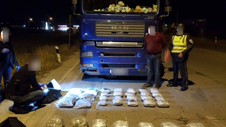 Kapet drogë me vlerë prej 200 mijë eurosh, arrestohet një shqiptar në Maqedoni