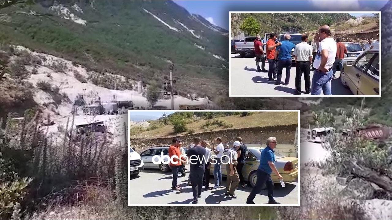 """""""Plumbin në gojë""""! Përplasje mes banorëve të Bënçës dhe firmës për rrugën, Tare në komisariat"""