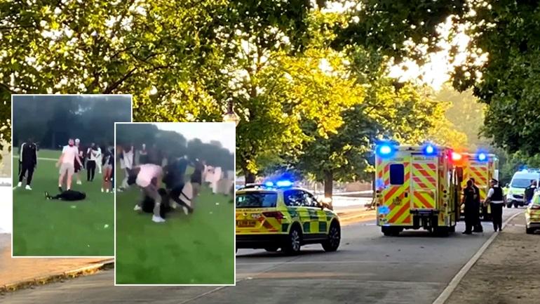 Tmerr në Londër, banda e armatosur me hanxharë e thika sulmojnë të riun në park