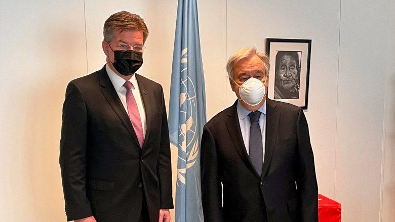 Lajçak takon sekretarin e përgjithshëm të OKB-së, diskutime për dialogun Kosovë-Serbi