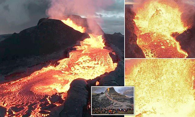 Shpërthimi i vullkanit në Islandë, droni regjistron pamje mahnitëse