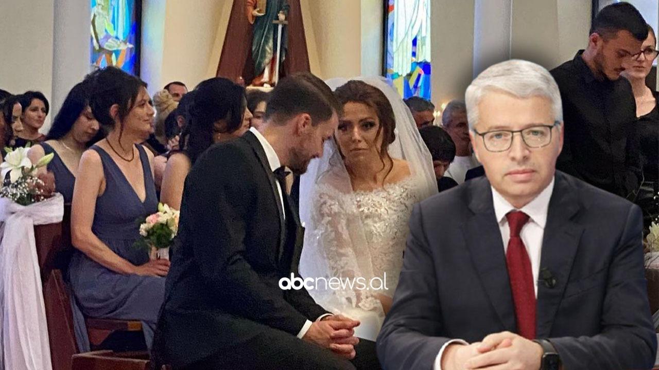 Sandër Lleshaj marton vajzën, dalin pamjet nga ceremonia luksoze, ish-ministri i buzëqeshur