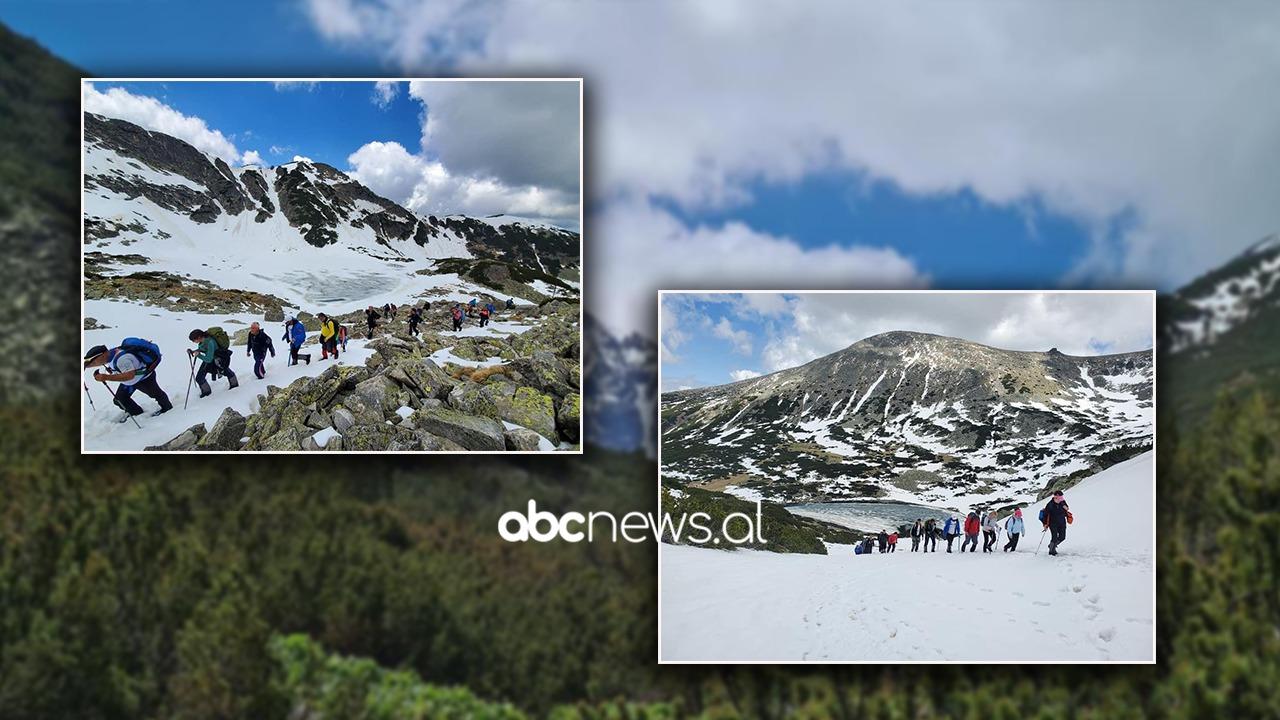 VIDEO/ Alpinistët shqiptarë valëvisin flamurin kuqezi në majën më të lartë në Ballkan