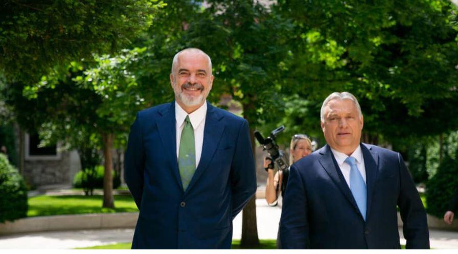 Rama meets Viktor Orban in Hungary