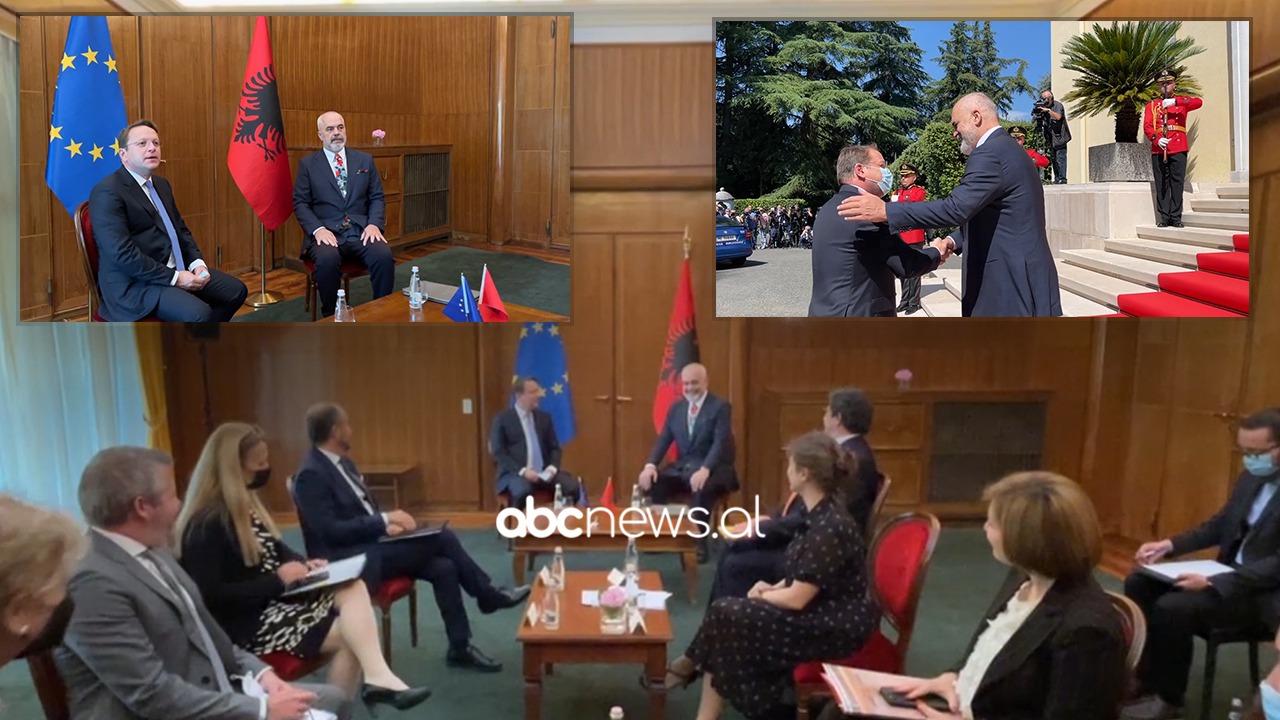 Samiti me liderët e Ballkanit Perëndimor, Rama pret komisionerin Olivér Várhelyi