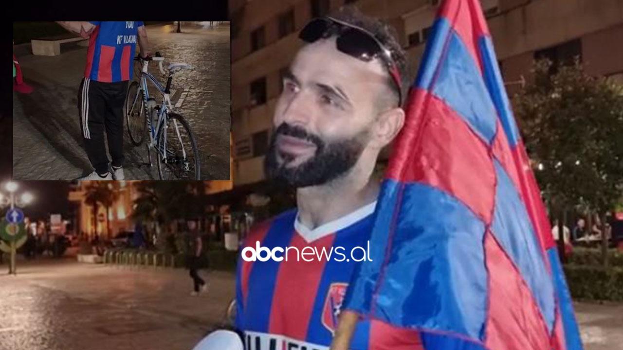 """VIDEO/ Shkodër-""""Air Albania"""" me biçikletë, Liçi: """"Ma shpejt zbardh dita, sa tregoj ç'asht Vllaznia për mu"""""""