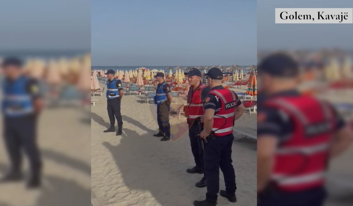Policia aksion në Golem, liron 11 parcela të zaptuara me shezlongë e çadra