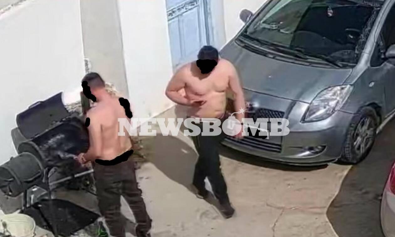 """""""Luftë"""" me policinë, pastaj shpërndante """"të bardhë"""" në ishullin e miliarderëve, dalin pamjet e tjera të shqiptarëve në Mykonos"""
