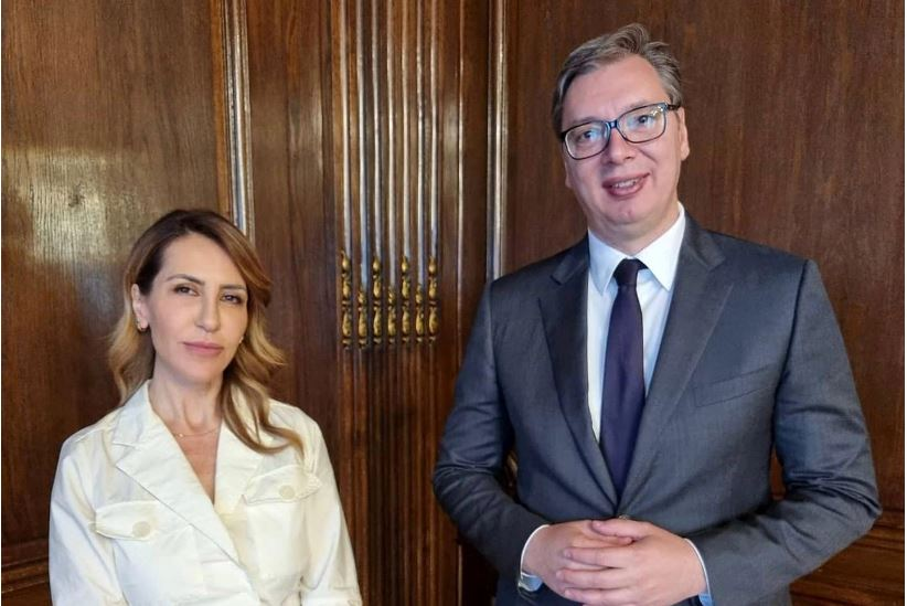 Majlinda Bregu takohet me Vuçiçin ne Beograd