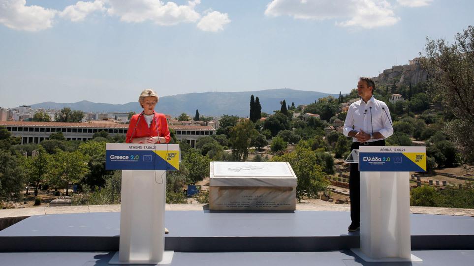 Von der Layen takim me Mitsotakis: Greqia do të bëhet më e fortë se kurrë