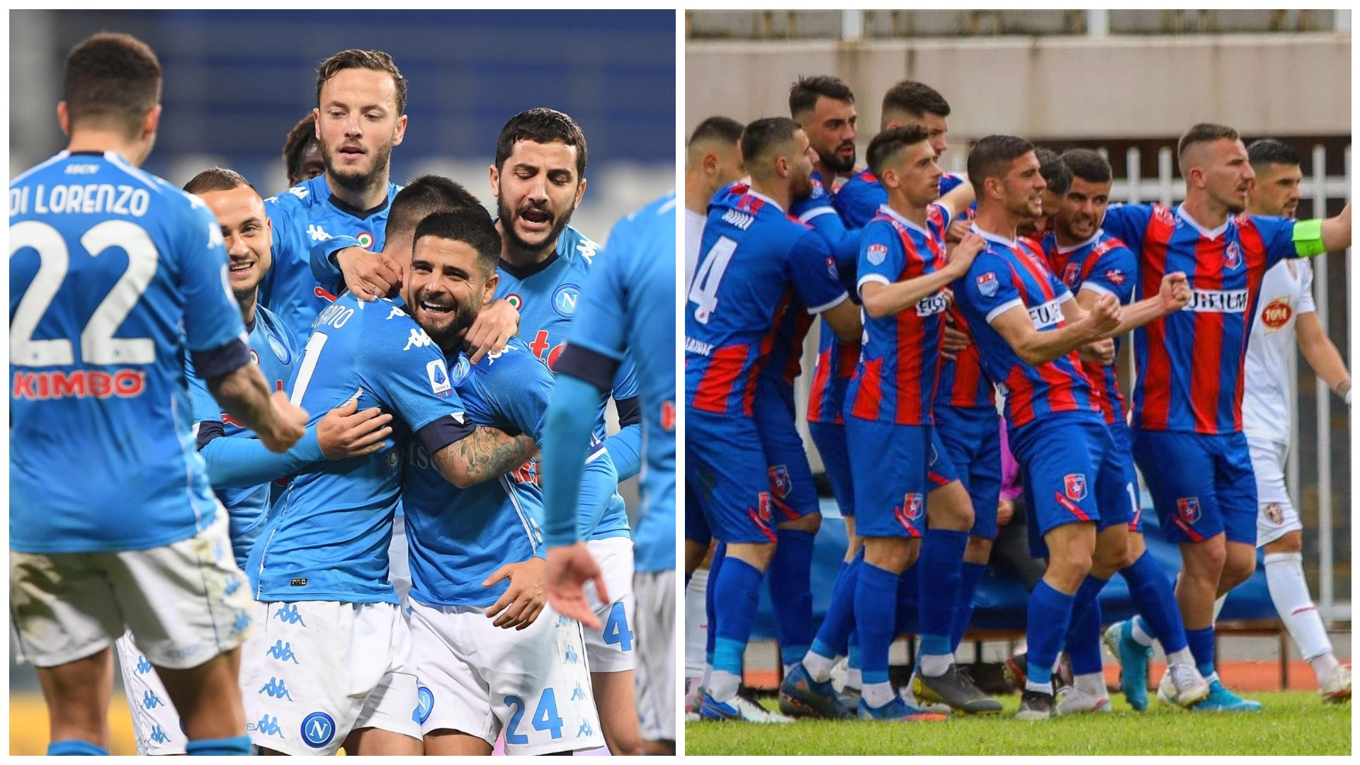 Napoli si Vllaznia, pa sponsor teknik dhe me fanellë të dizenjuar nga Armani