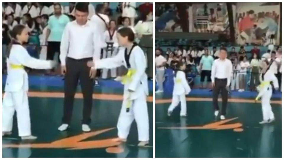 VIDEO/ Gjest i bukur i dy motrave, nuk ndeshen në finalen e taekuando