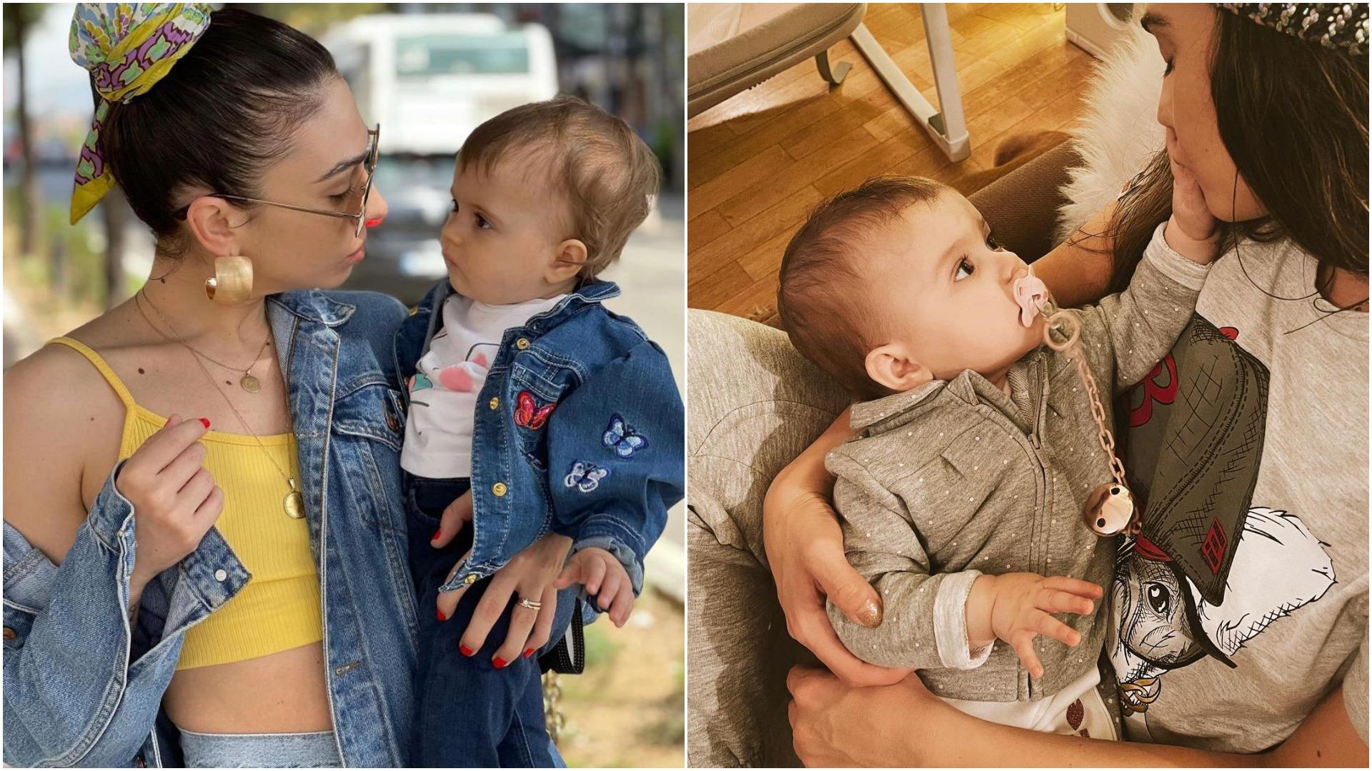 FOTOT e ëmbla: Emi mbush 1-vjeçe dhe mami Jonida jeton vetëm për të