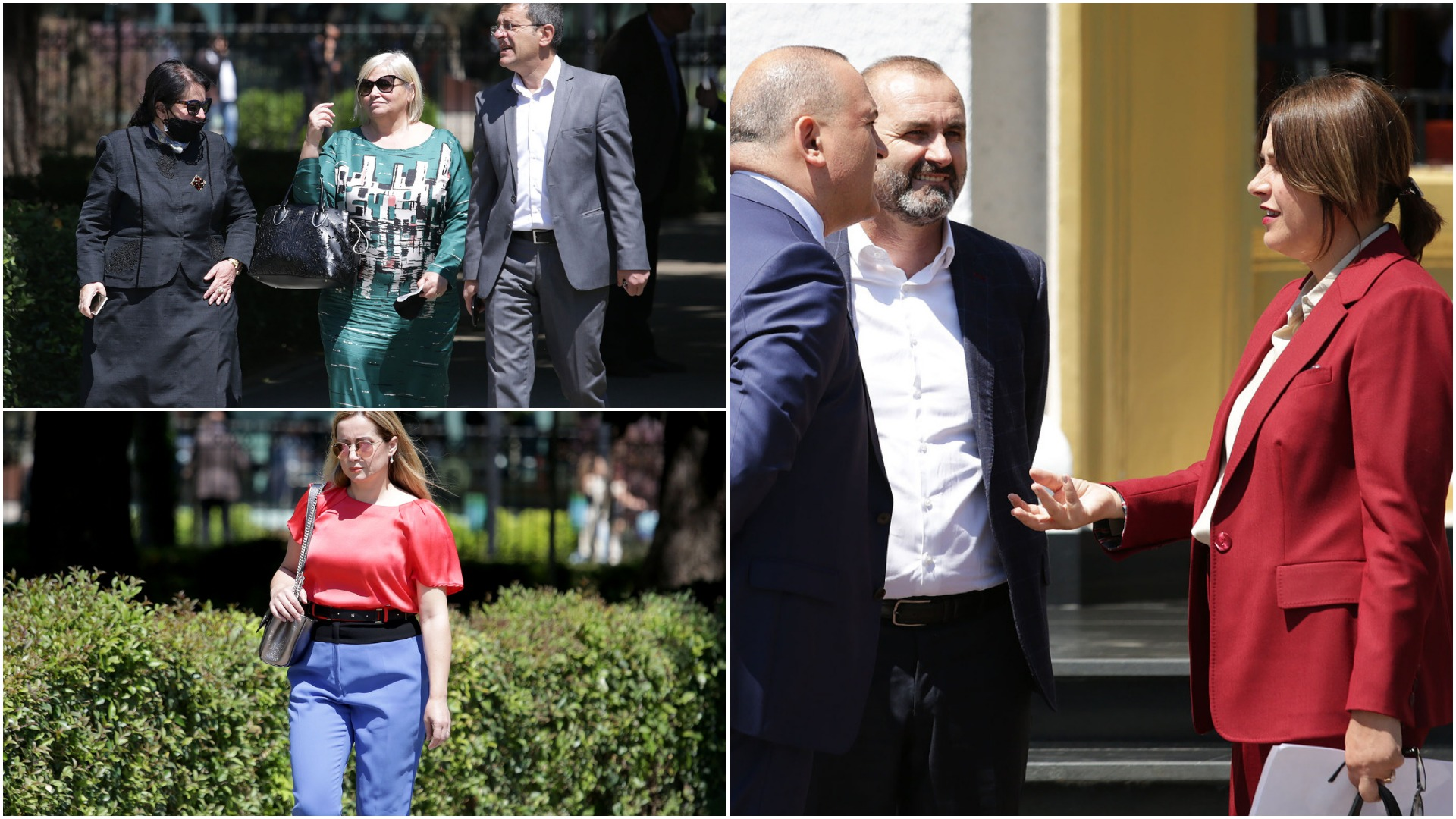 Veshje firmë dhe kombinime me ngjyra, deputetët tërheqin vëmëndje përpara Parlamentarit