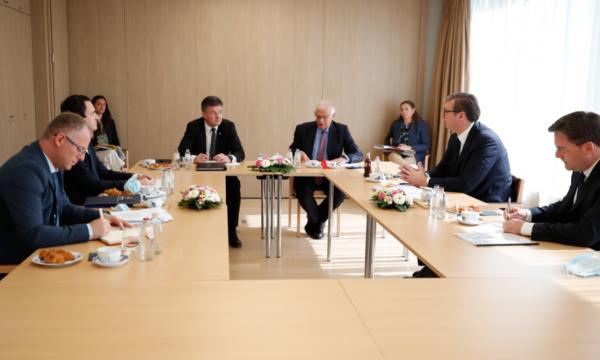 Takimi Kurti-Vuçiç në Bruksel, Borell: Dialogu ka sjellë rezultate të rëndësishme