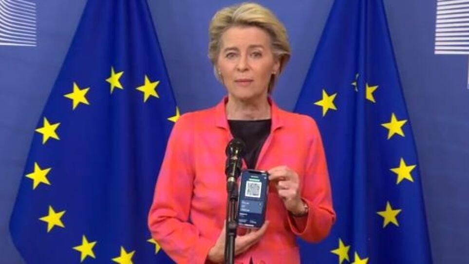 """""""Pa Covid"""", me certifikatën dixhitale në dorë, Von der Leyen nis turneun nëpër BE"""