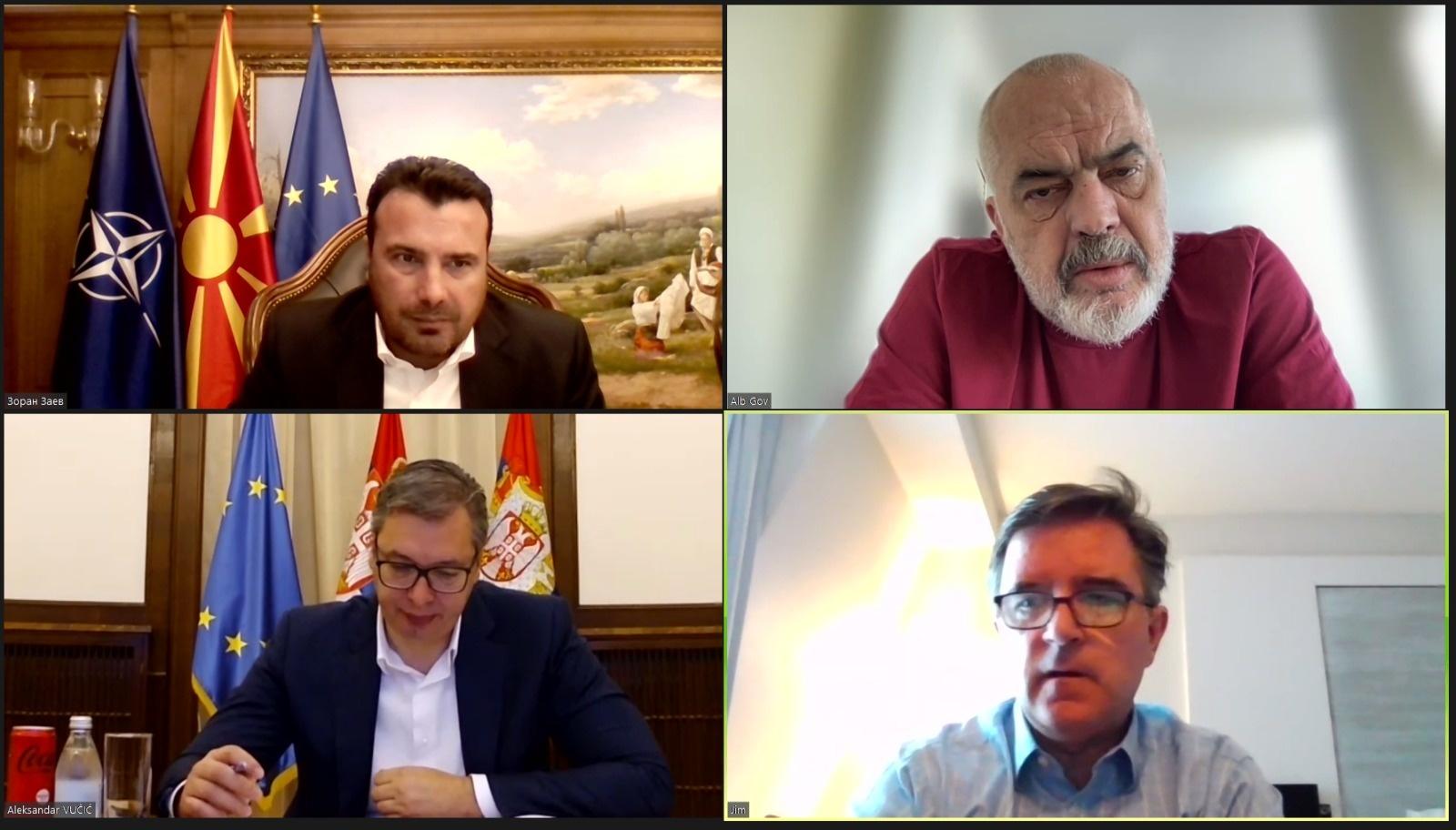 """""""Ky është një Ballkan i ri, evropian"""", Zaev takim me Ramën dhe Vuçiç"""