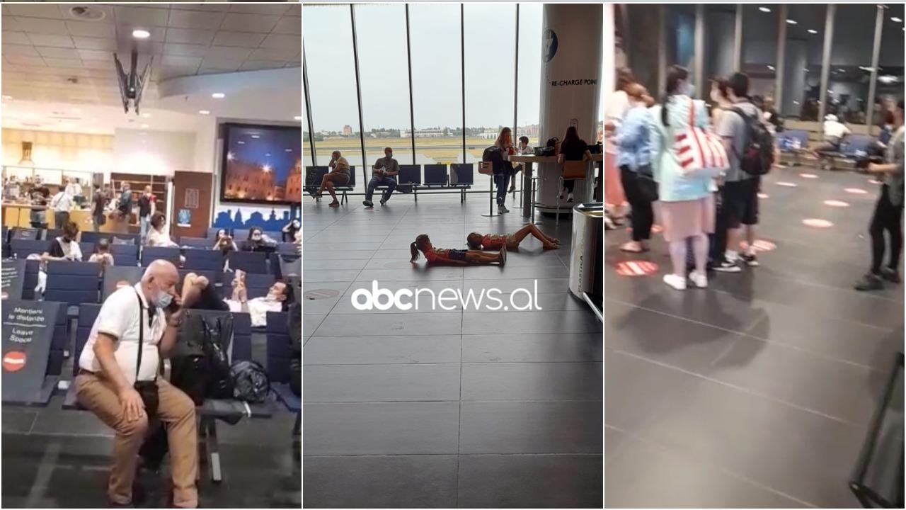 """Pasagjerët e """"Air Albania"""" bllokohen në Itali: Fëmijët po shtrihen në tokë, s'na lajmëruan"""