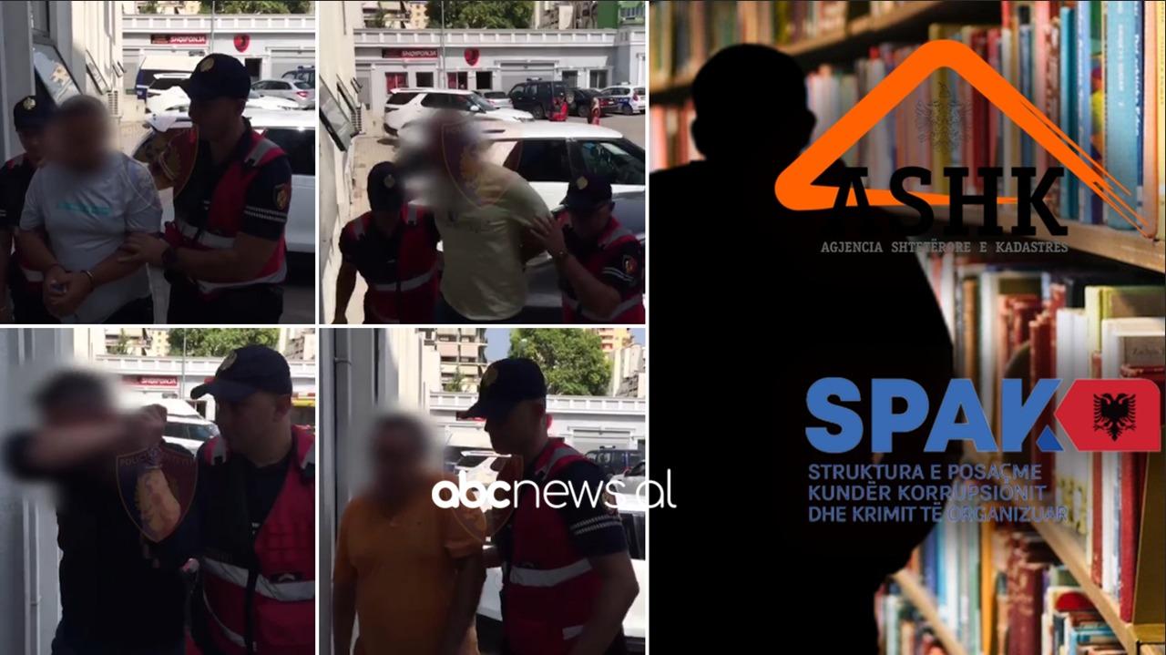SPAK mësyn në Kadastrën e Tiranës, momenti i kur zyrtarët shoqërohen në polici me pranga në duar