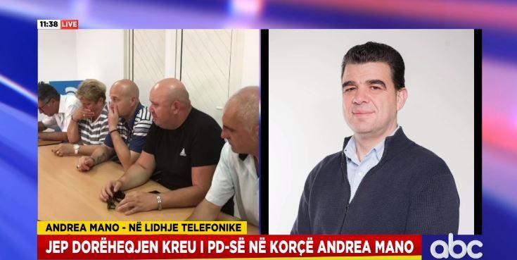 Dorëhiqet kupola e PD-së Korçë, Mano për ABC: Përçarja në fushatë, Basha arrogant