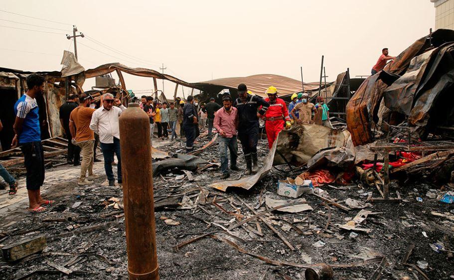 Zjarr në një spital të Covid në Irak, shkon në 66 numri i viktimave