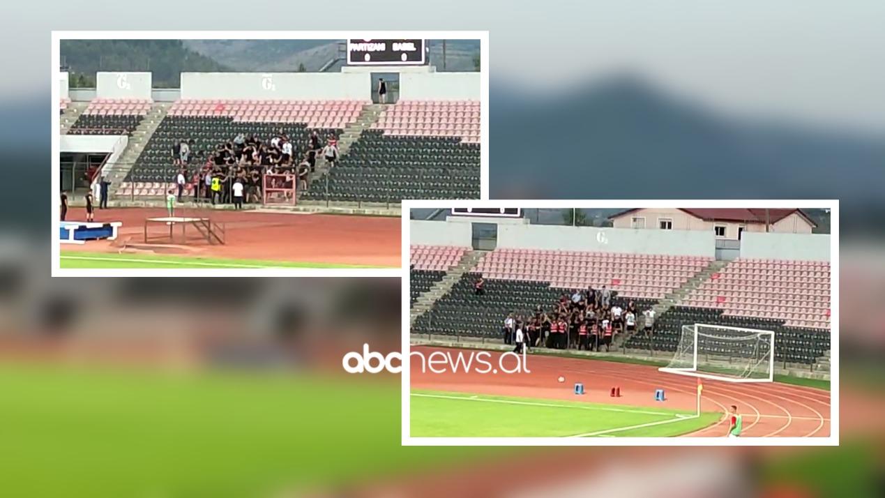 """VIDEO/ Incident me tifozët e Basel, policia i përzë nga """"Elbasan Arena"""""""