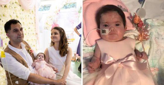 Çifti martohet në spital, vajza e tyre e sëmurë bëhet shoqëruesja e nuses