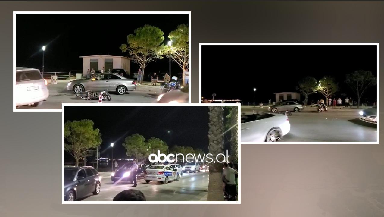 Makina përplaset me motorin në Vlorë, lëndohet një person