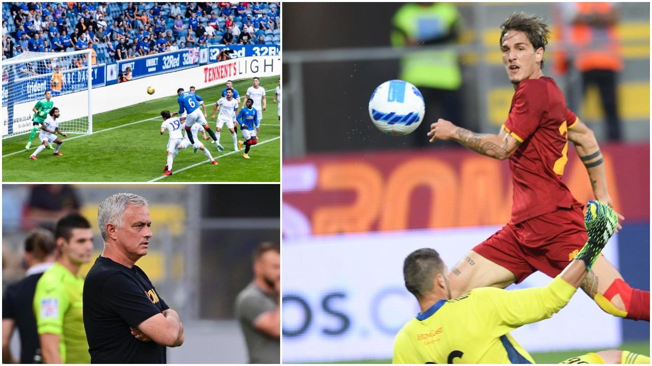 """VIDEO/ """"Manita"""" e Romës, Zaniolo dhuron show. Real Madrid thyhet në Skoci"""