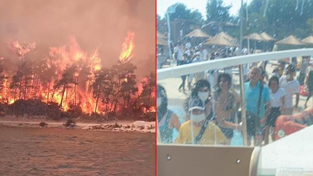 Zjarr në Bodrum të Turqisë, rrezikohen 2 hotele, evakuohen turistët