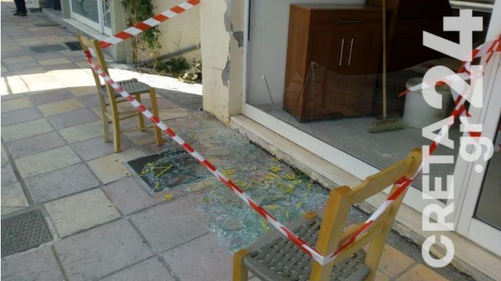Thyerje xhamash dhe çarje muresh, momenti kur tërmeti godet Kretën
