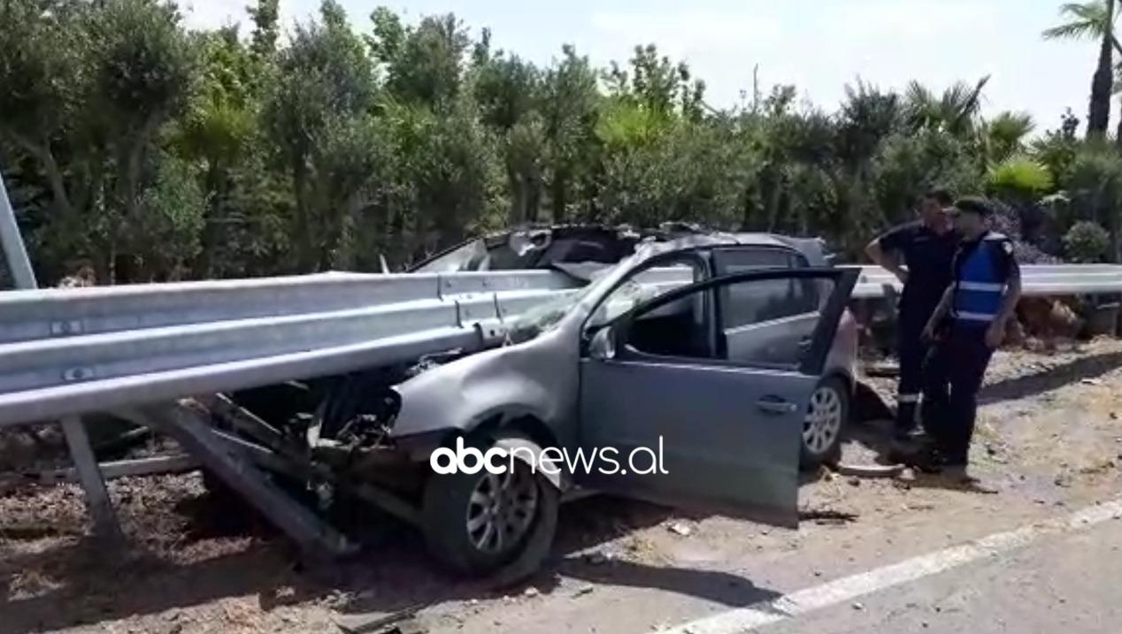 Aksident i frikshëm në Laç, makina çahet në dysh, shpëton shoferi