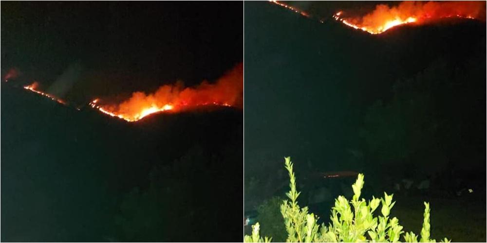 AdZM Vlorë ngre alarmin: Zjarri në Karaburun në po rrezikon zonat e banuara në Dukat Fushë