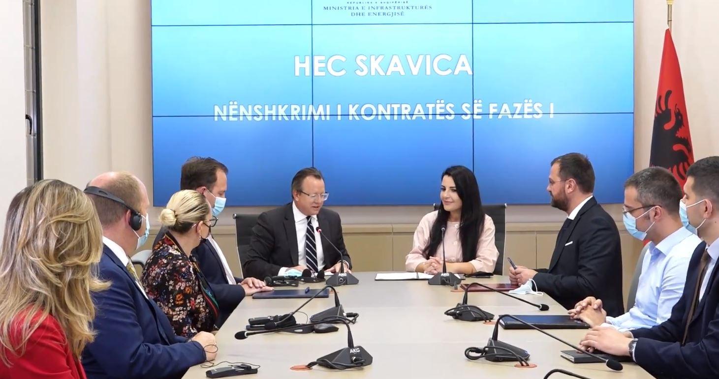 Nënshkruhet kontrata për HEC-in e Skavicës, Balluku: Vepra më e rëndësishme në sektorin energjetik