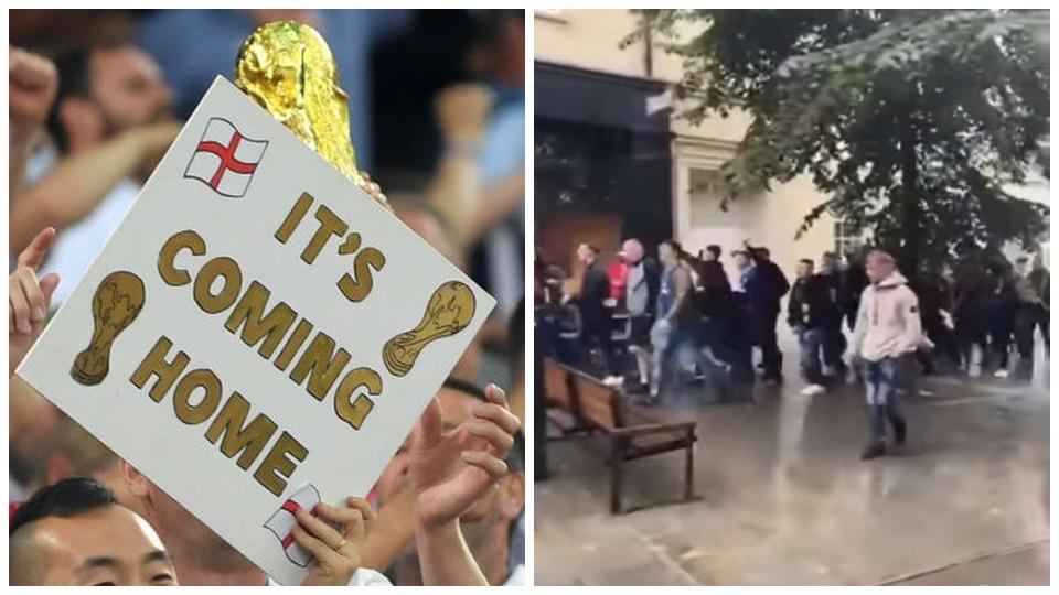 """VIDEO/ """"Futbolli po shkon në Romë"""", tifozët uellsianë """"diss"""" Anglisë para finales"""
