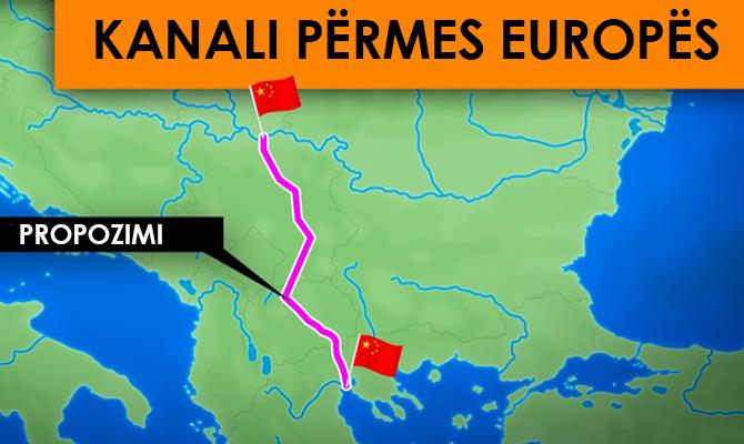 Pse Kina dëshiron të ndërtojë një kanal në Danub përmes Vardarit?
