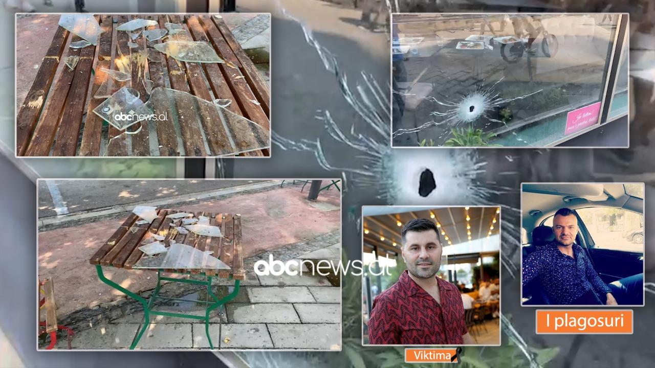 """Si zonë lufte, plumbat bënë """"shoshë"""" lokalin e viktimës në Lushnje, tavolina ku ishte ulur u bë copë"""