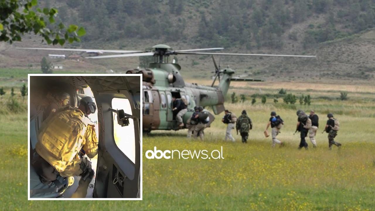 RENEA zbarkon me helikopter mes maleve të Pukës, gjen parcela me kanabis