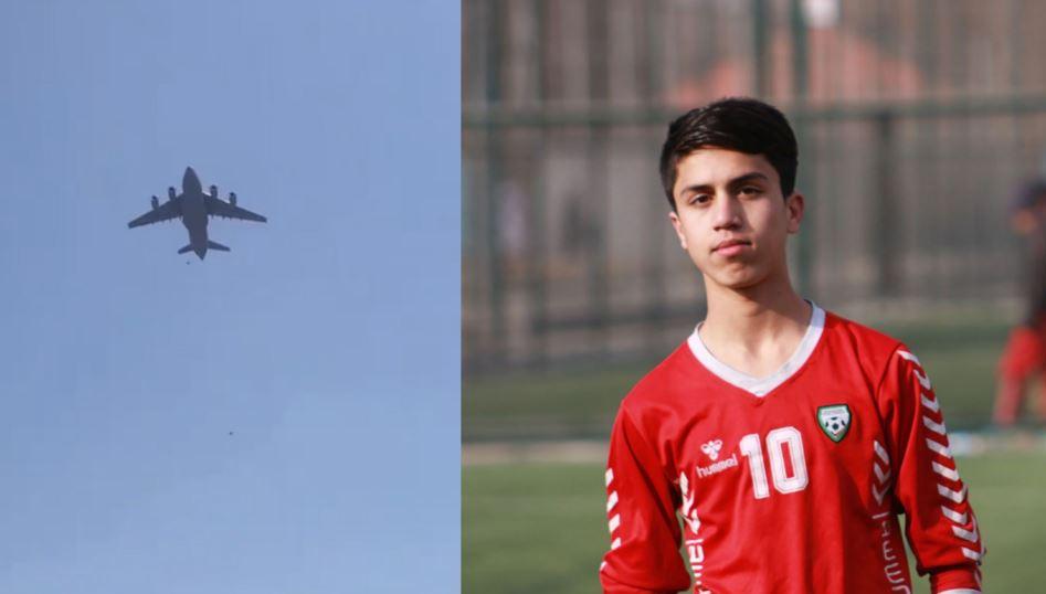 Një futbollist i talentuar i kombëtares afgane për të rinj, ky është 19-vjeçari që ra tragjikisht nga avioni