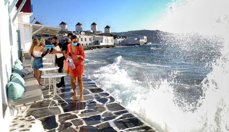 "Naxos, Mykonos, Tinos, Delta ""rrethon"" ishujt e famshëm grekë"