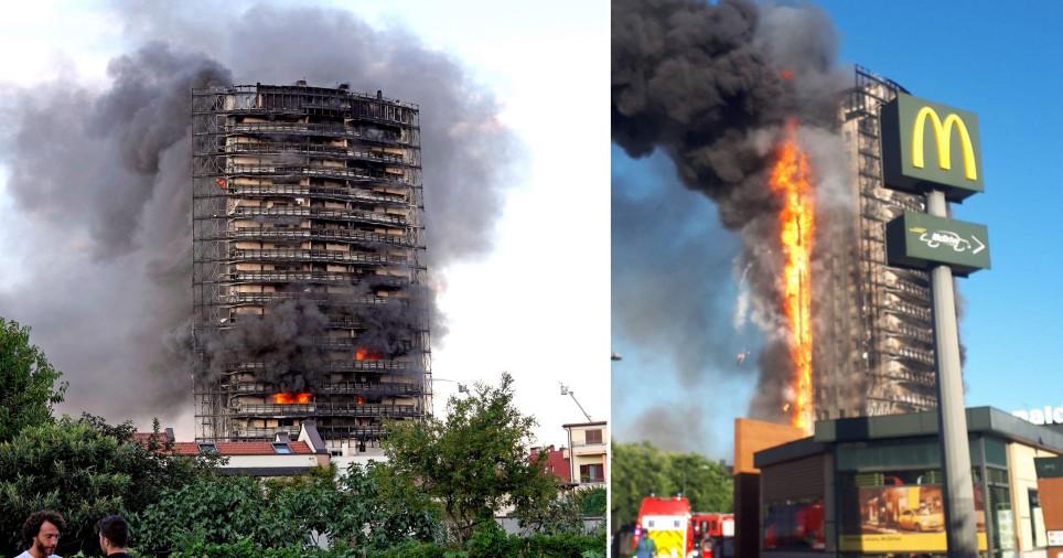 """Zjarri """"pushton"""" ndërtesën shumëkatëshe në Milano"""