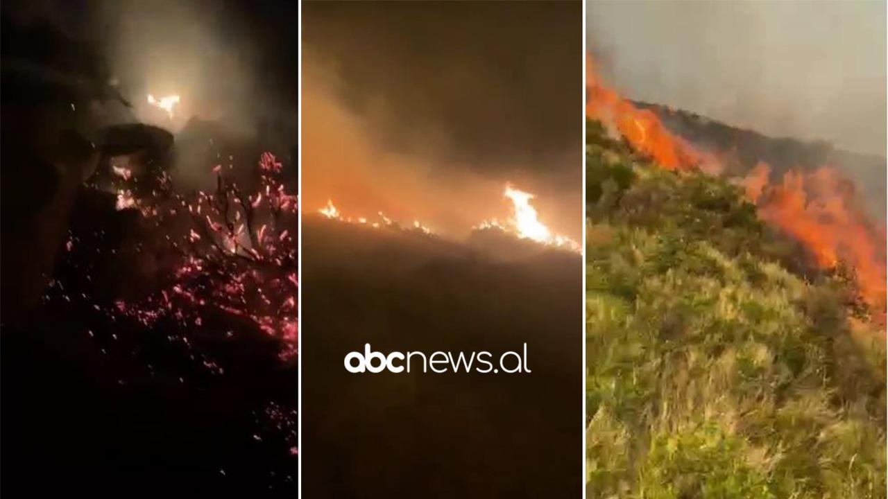 """Zjarri """"pushton"""" Karaburunin, flakët i rrezikojnë banesën: Një banor në Dukat Fushë apel për ndihmë"""