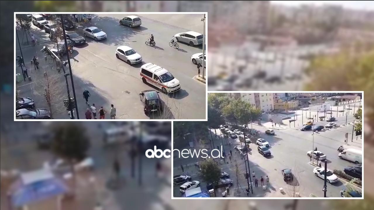 VIDEO/ Nuk respektuan semaforin, përplasen automjetet në Tiranë