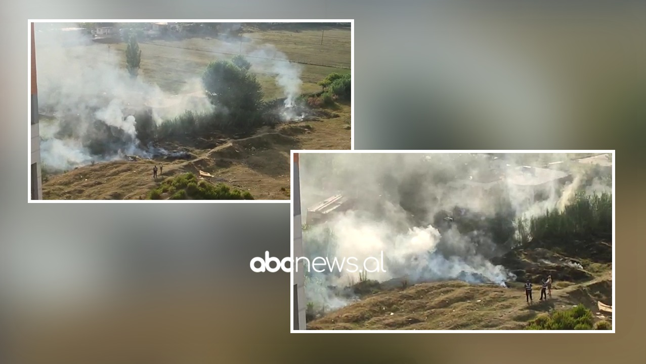 Zjarr në Yzberisht, rrezikohen disa banesa