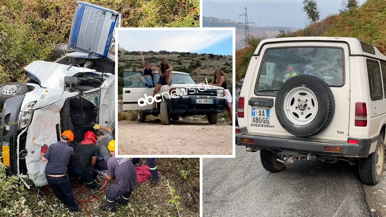 """Të hipura sipër duke pozuar, del fotoja e vajzave me """"Land Rover-in"""" para aksidentit"""
